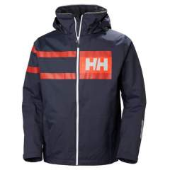 HH Salt power jacket graphite blue XXL